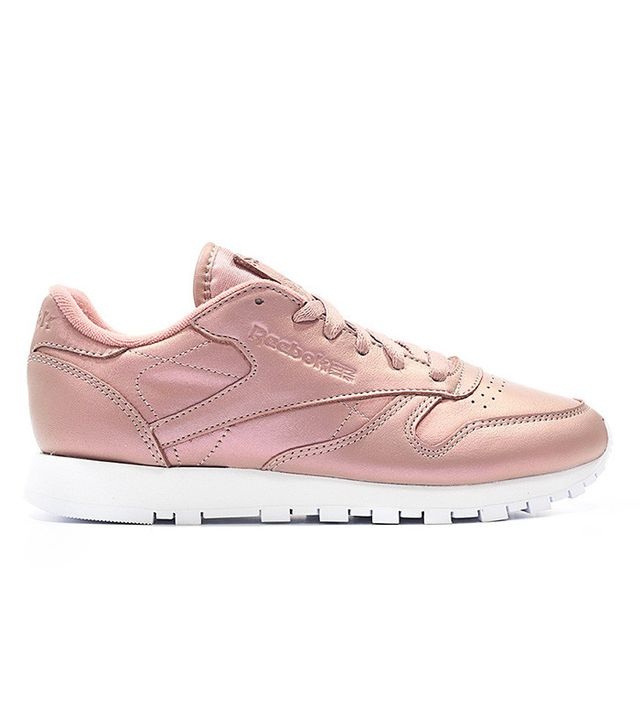 Reebok Classic Leather Sneakers In Rose Gold Pearl