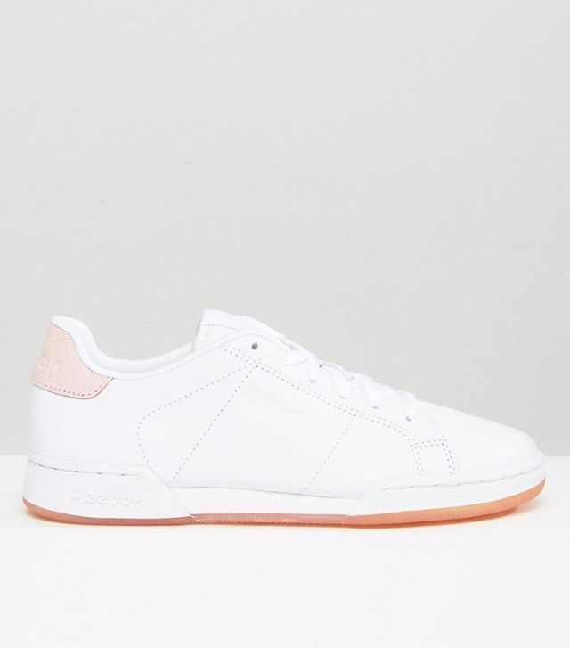 Reebok Npc Ii Sneakers With Pink Heel And Sole Detail
