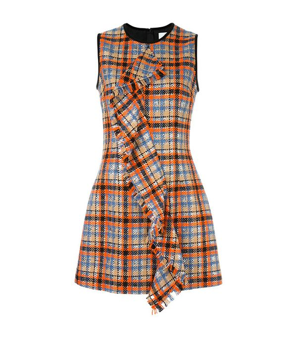 MSGM Checked Ruffled Front Dress