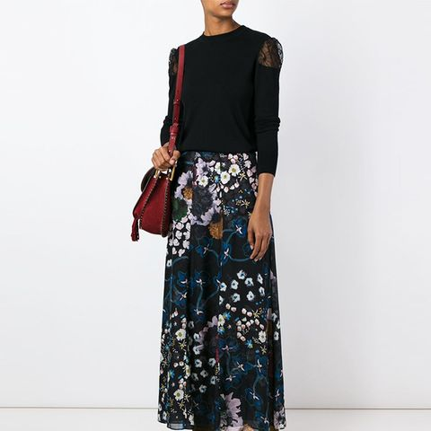 Airy Florals Long Skirt
