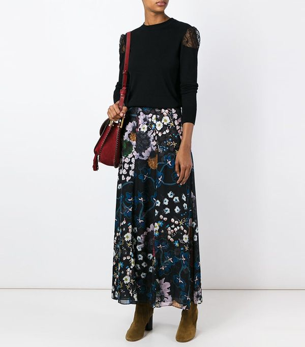 Dorothee Schumacher Airy Florals Long Skirt