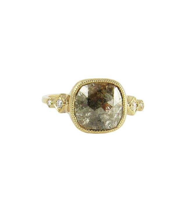 Jennie Kwon Designs Gray Diamond Slice Ring