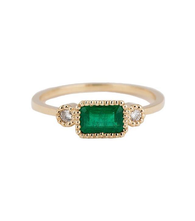 Jennie Kwon Designs Emerald Lexie Ring