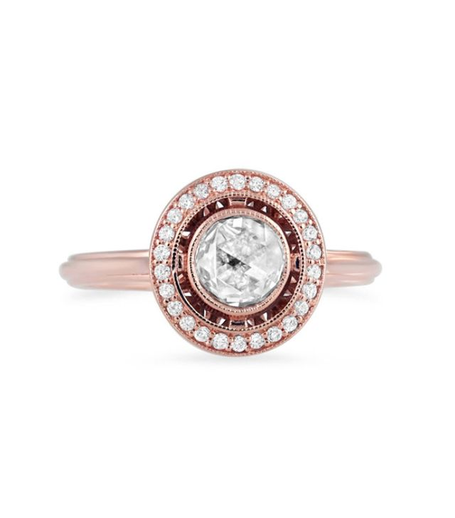 Brilliant Earth Rose Cut Vintage Halo Diamond Ring(Price Available Upon Request)