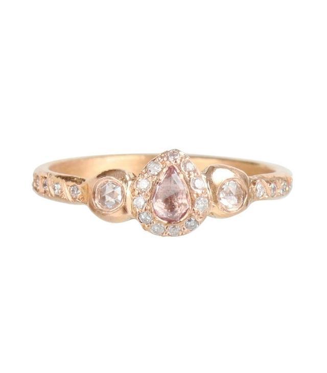 Elisa Solomon Pavlova Pink Sapphire Ring