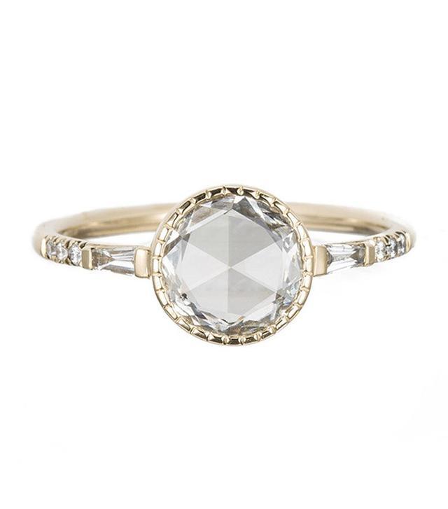 Jennie Kwon Designs Round RC Diamond Baguette Ring
