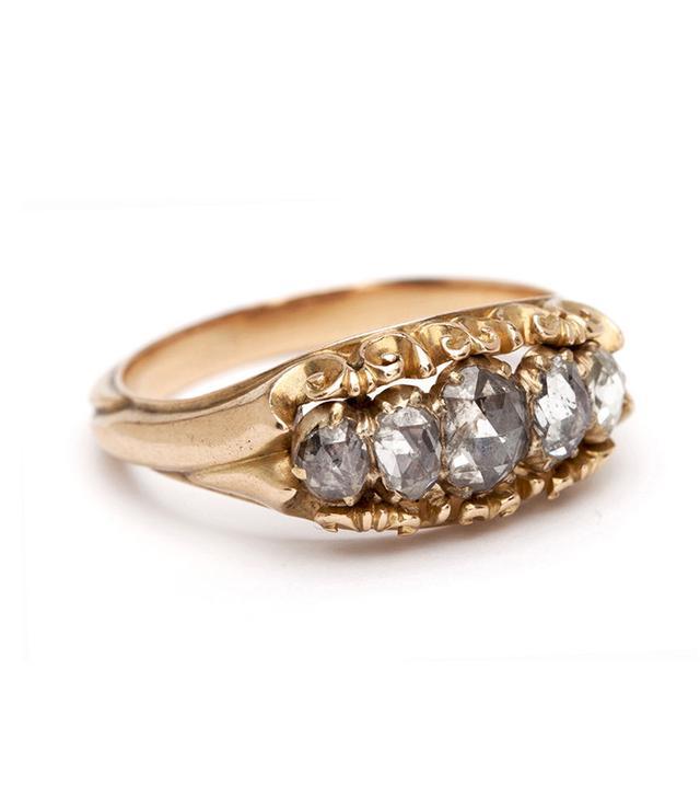 Sofia Kaman Rose Cut Diamond Stacker Ring