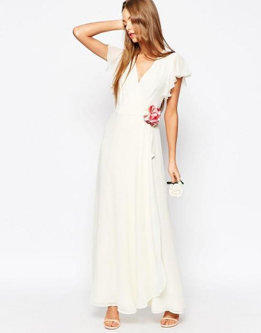 ASOS  Corsage Wrap Maxi Dress