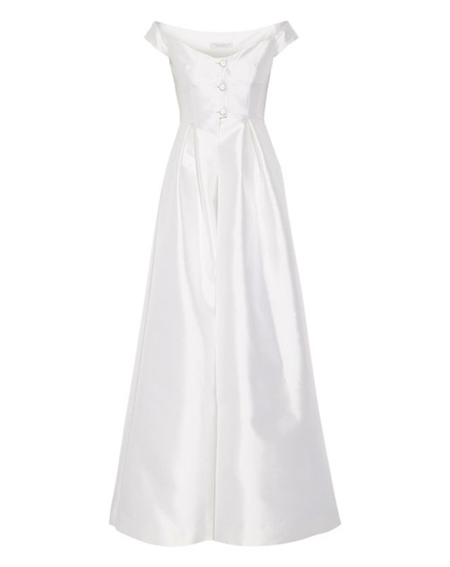 Dolce & Gabbana Tituba Off-the-Shoulder Silk and Wool-Blend Faille Gown