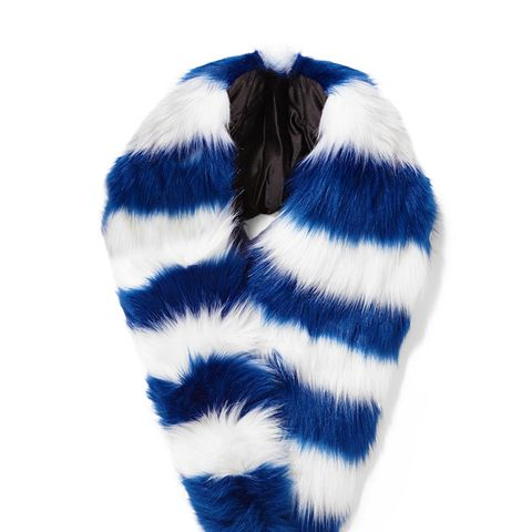Candy Striped Faux Fur Scarf