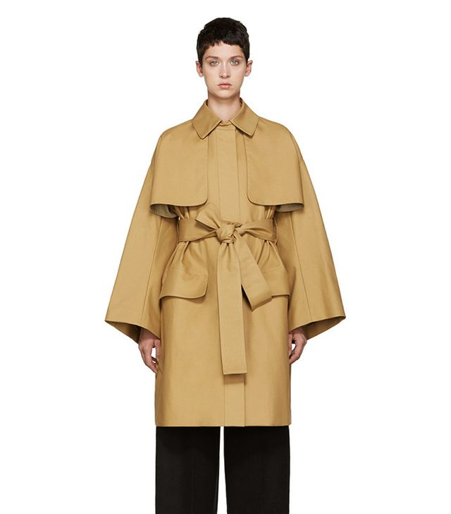 Cyclas Tan Oversized Trench Coat