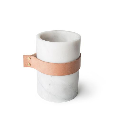 Strapped Marble Vase