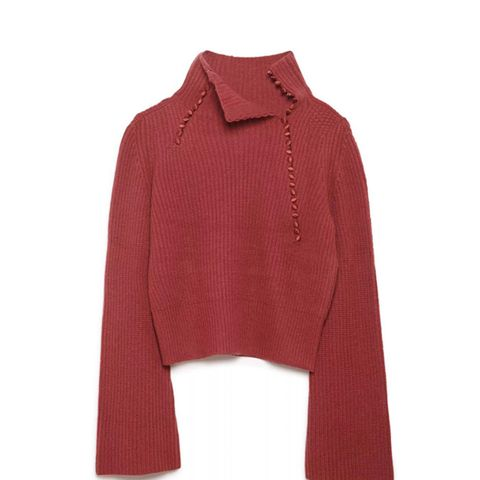 Foldover Collar Sweater