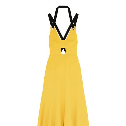 Breakers Grosgrain-Trimmed Stretch-Crepe Dress