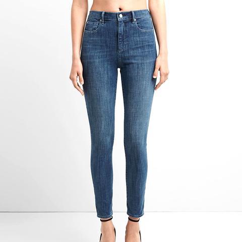 Super High Rise 360 Stretch Jeans in Medium Indigo