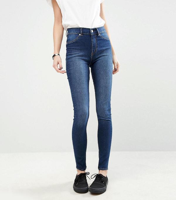Spray On High Waist Organic Cotton Skinny Jeans