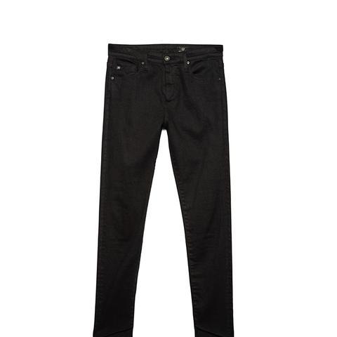 The Farrah Skinny Ankle Jeans in Overdye Black