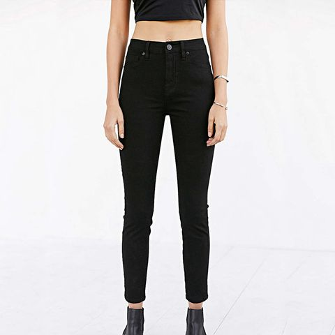 Twig Grazer High-Rise Skinny Jean in Black