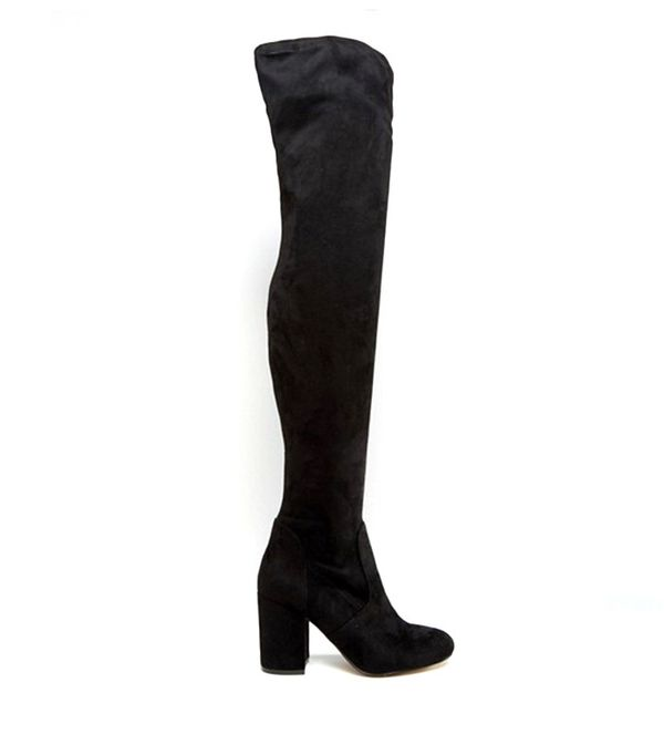 ASOS KATCH UP Stretched Over the Knee High Heel Boots Heeled Boots