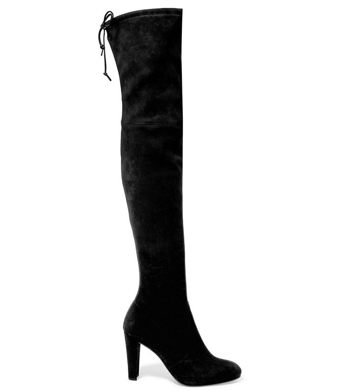 Stuart Weitzman Highland Stretch-Suede Over-the-Knee Boots