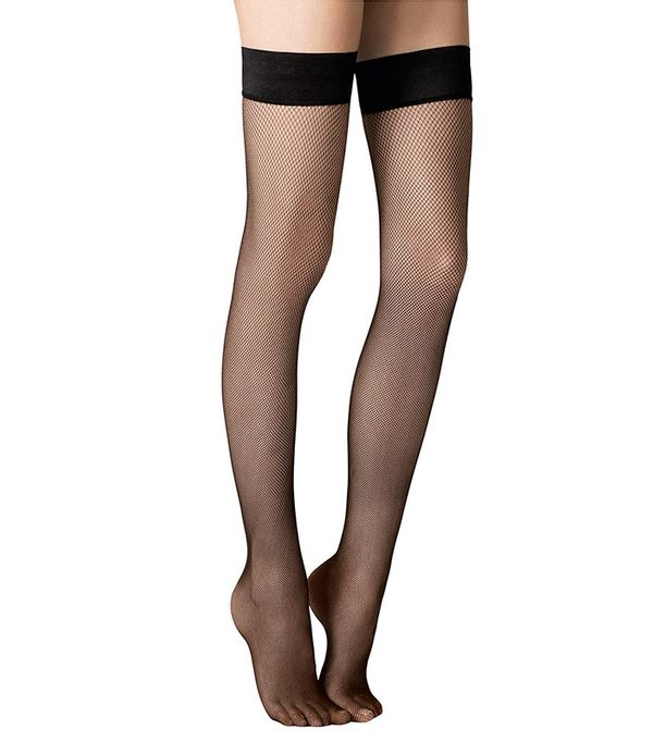 Fogal Stay-Up Fishnet Stockings