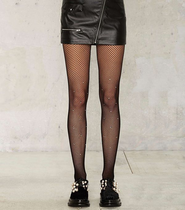 Nasty Gal Diamond in the Rough Fishnet Tights