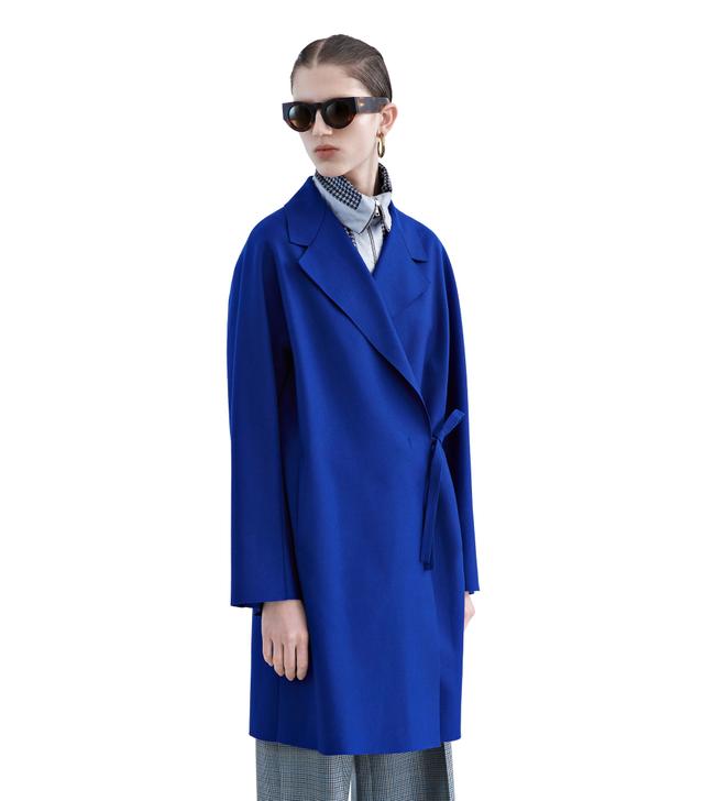 Acne Studios Ember Klein Blue Flannel Coat