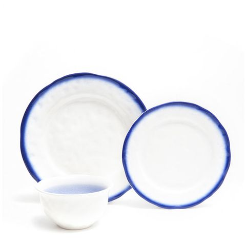 Dinnerware With Blue Ombre Effect