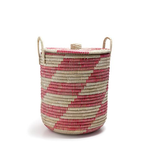Red Geometric Design Basket