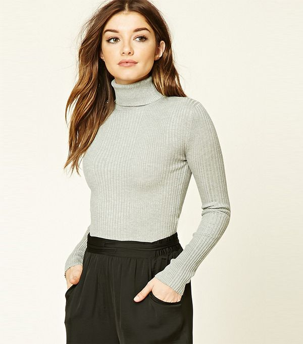 Forever 21 Ribbed Turtleneck Sweater