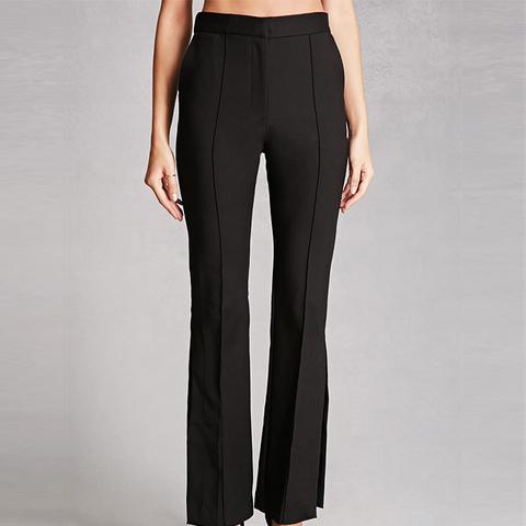 Pintuck Straight-Leg Trousers