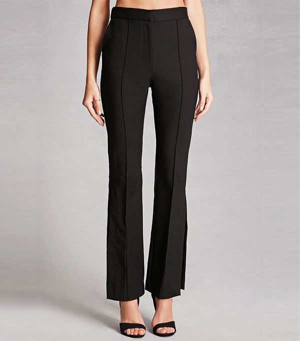 Forever 21 Pintuck Straight-Leg Trousers