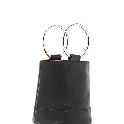 Faux Leather Mini Clutch
