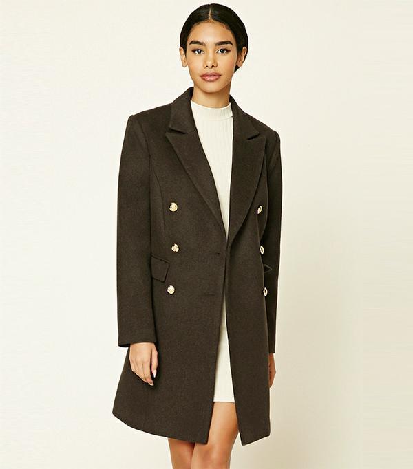 Forever 21 Wool-Blend Overcoat