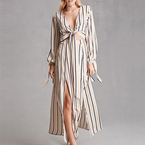 Reverse Stripe Maxi Dress