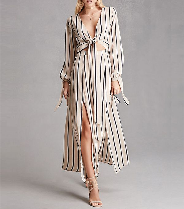 Forever 21 Reverse Stripe Maxi Dress