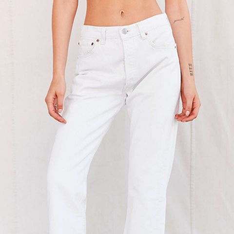 Remade Frayed Jeans White