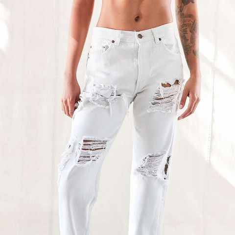 Super Distressed Jeans Natural