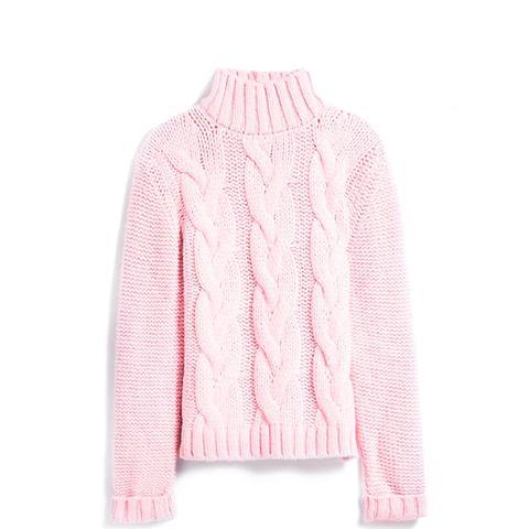 Women's Pink Brooks Rollneck Sweater