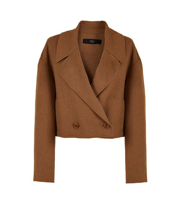 Reversible Double Faced Wool-Angora Cropped Jacket by Tibi