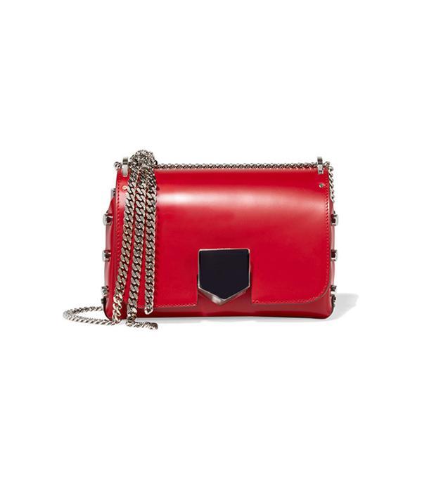 Lockett Small Leather Shoulder Bag by Jimmy Choo