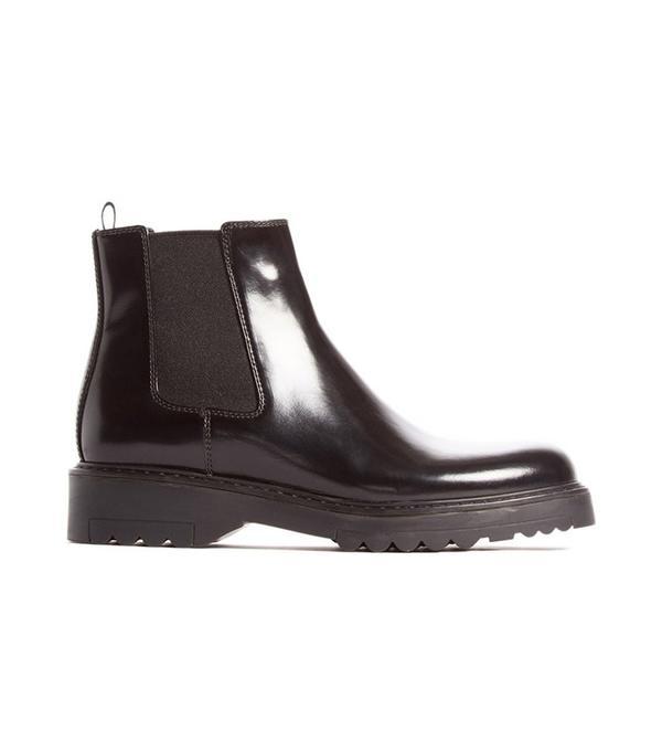 Lug Sole Chelsea Boot by Prada