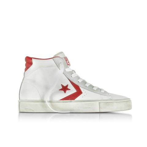Limited Edition Pro Leather Vulc White and Red Mid Top Unisex Sneakers