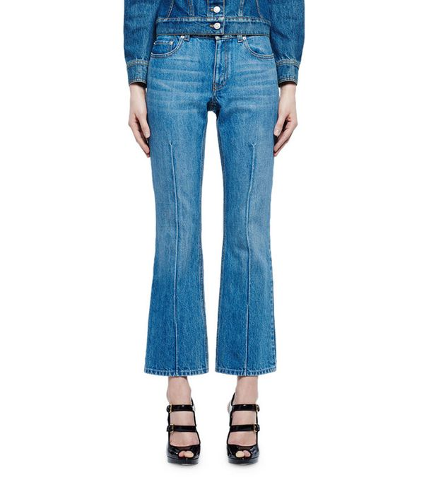 Flare-Leg Cropped Jeans by Alexander McQueen