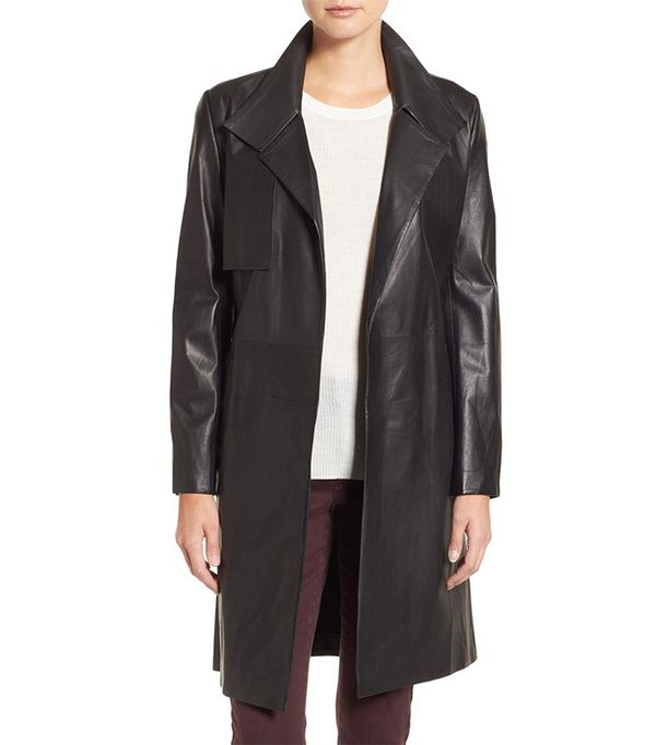 Lambskin Leather Trench Coat by LaMarque