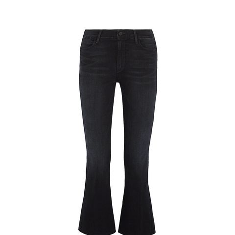 Le High Flare Cropped Frayed Jeans