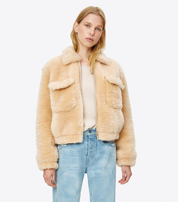 Teddy Shearling Bomber by Helmut Lang