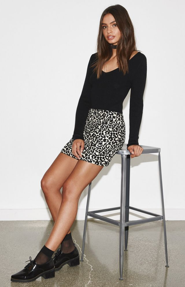 Kendall & Kylie for PacSun Leopard Mini Skirt ($40)