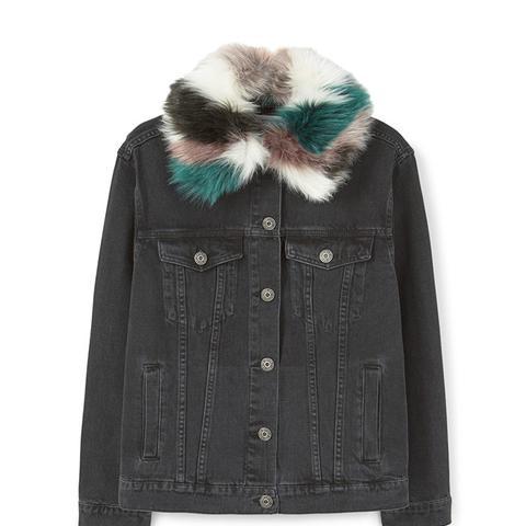 Faux Fur Denim Jacket