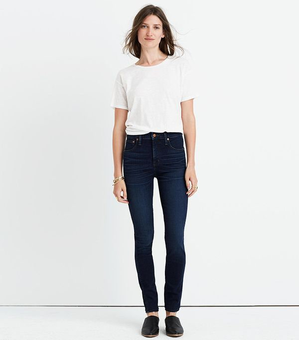 """Madewell 10"""" High-Rise Skinny Jeans in Hayes Wash"""